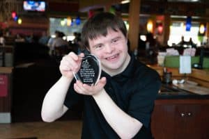 "Applebee's ""Of the Best"" award presented to Zach McAdams"